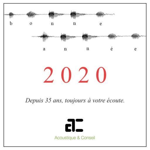 ACOUSTIQUE & CONSEIL VOUS SOUHAITE UNE BONNE ANNEE 2020 !