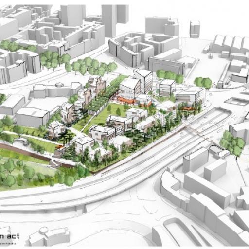 Paul Bourget - a new urban development project at Porte d'Italie, Paris 13th